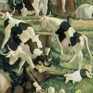 Cows at Cookham by Sir Stanley Spencer